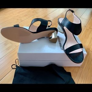 Nicholas Kirkwood black leather sandals sz 42 NWT
